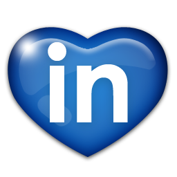 A heart of the LinkedIn logo