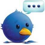 twitter icon appears adorable with thinking callouts