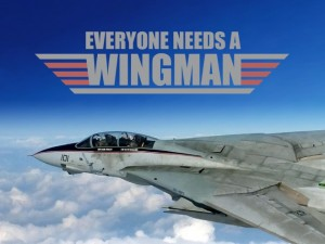 A wingman in a jet but there are all types of wingmen