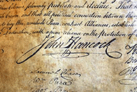 a unique signature from John Hancock