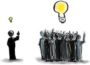 What is crowdsourcing? The best ideas, with the most light, from global talent.
