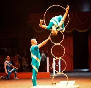 Circus performers achieve greatness.