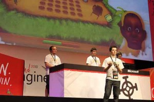 live presentation of a game