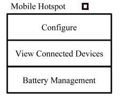 first screen inside the smartphone app for connecting to a mobile hotspot