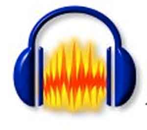 logo of audacity, a set of headphones, for listening to inspiration and practicing how to count your blessings