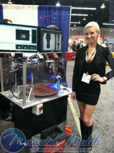 lovely lady who works the trade show booths