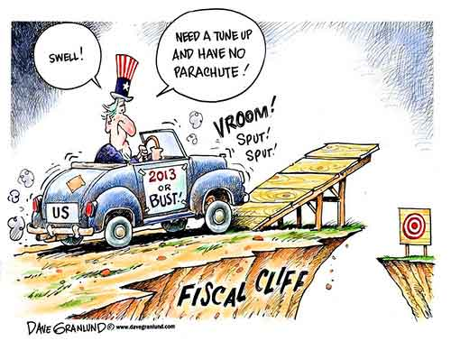 cartoon about the fiscal cliff