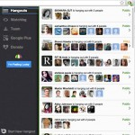 canopy hangout burst shows live videochats on google plus